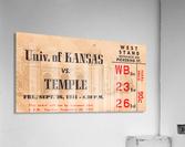 1941 Temple vs. Kansas  Acrylic Print