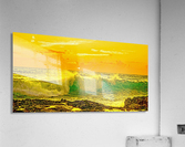 At the Sea Shore Panorama - Sunset Hawaiian Islands  Acrylic Print
