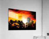 Fire in the Heavens - Sunset Hawaiian Islands  Acrylic Print