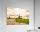 Windmills at Sunset  Acrylic Print