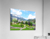The  Saane valley in Switzerland Surrounded by the Alps  Acrylic Print