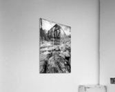 Train Bridge ap 2225 B&W  Acrylic Print