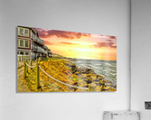 Depoe Bay On the Oregon Coast - Art Style  Acrylic Print