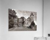 White River Light ap 2449 B&W  Acrylic Print