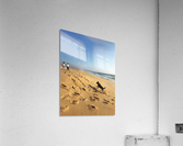 Dog and kids on the beach in Portugal  Acrylic Print