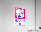 1984 DePaul Notre Dame Basketball WGN Poster  Acrylic Print