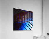 abstract blue curved lines  Acrylic Print