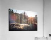 Rocky Mountain Cabin  Acrylic Print