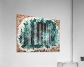 Green Geode  Acrylic Print