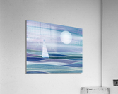 Sailboat At The Ocean Shore Seascape Painting Beach House Art Decor XV  Acrylic Print
