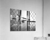 Fog Behind The Gate  Acrylic Print