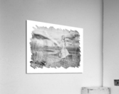 Girl Ocean Rainbow Boat And Birds Beach House Style Art  Acrylic Print