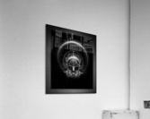 Gothic Skull Blaze Abstract Digital Art Composition  Acrylic Print
