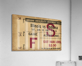 1981 Indiana vs. Illinois Basketball Ticket Art  Acrylic Print