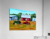 Bailing Hay  Acrylic Print