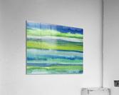 Ocean And Sea Beach Coastal Art Organic Watercolor Abstract Lines II  Acrylic Print