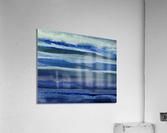 Ocean And Sea Beach Coastal Art Organic Watercolor Abstract Lines III  Acrylic Print