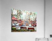 PORTUGUESE PARK PLATEAU MONT ROYAL MONTREAL STREET SCENE  Acrylic Print