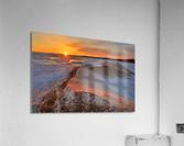 Icy Sunset  Naubinway Michigan  Acrylic Print