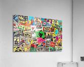 Matchbox Label Collage  Acrylic Print