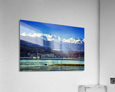 Comox Glacier and Herring Boat  Acrylic Print