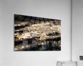 Confettis sur bitume  Impression acrylique