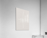 Grid Star Grey  Acrylic Print