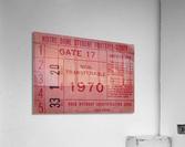 1970 Notre Dame Football Student Season Ticket Art  Acrylic Print