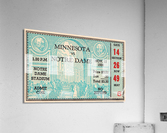 1938 Minnesota vs. Notre Dame Football Ticket Canvas  Acrylic Print