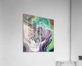 Peacock Marble Abstract  Acrylic Print
