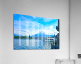 Mount Pilatus on the Shores of Lake Lucerne   Central Swiss Alps  Acrylic Print
