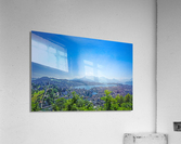 Stunning View Musegg Wall to Chapel Bridge to Lucerne and the Alps   Lucerne Switzerland  Acrylic Print