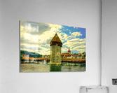 Spectacular Sunset Skies over Chapel Bridge Lucerne Switzerland  Acrylic Print