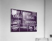 1956 Kansas State vs. Kansas Basketball Ticket Remix Art  Acrylic Print