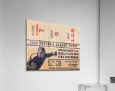 1934 USC Football Season Ticket   Acrylic Print