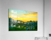 Sunset over Lucerne Switzerland  Acrylic Print