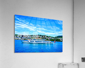 Cruise Boat On Lake Lucerne with City in Background in Switzerland  Acrylic Print