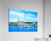 Old Town along the Coast in Lucerne Switzerland  Acrylic Print