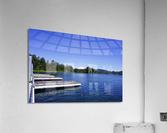 Alder Lake and Mount Rainier Pacific Northwest United States  Acrylic Print