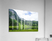 Quiet Morning on the Lake in the Swiss Highlands  Acrylic Print