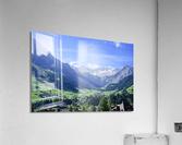 Blue Skies over the Alps in Adelboden Switzerland  Acrylic Print