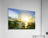 Sunset over Saint Thomas in the Caribbean Islands  Acrylic Print