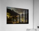 Night Arrives in the Saanen Valley in Switzerland  Acrylic Print