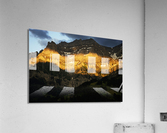 Mountain Bathed in the Golden Rays of the Sun at Sunset in Switzerland 2 of 3  Acrylic Print