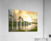 Shadows and Light as the Sun Sets in Kauai 1 of 2  Acrylic Print