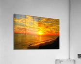 Sunset over Catalina Island in Newport Beach California  Acrylic Print