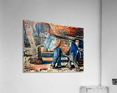 The Posterized Elephant  Acrylic Print
