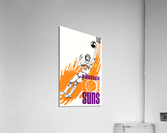 1977 Phoenix Suns Basketball Art  Acrylic Print