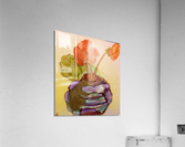 Orange Nasturiums  Impression acrylique