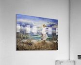 Girl At The Ocean Beach Art Painting  Acrylic Print